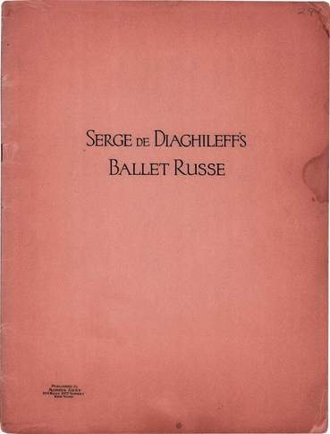 Russisches Ballett des S. Djagilews. New York, 1910er.